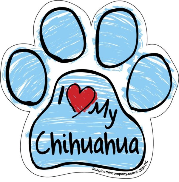 Imagine This Scribble Paw Magnet, Chihuahua