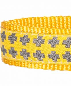 Blueberry Pet Gold Cross Yumy Pineapple and Silver Tinsel Roses Pattern Dog Collar 4