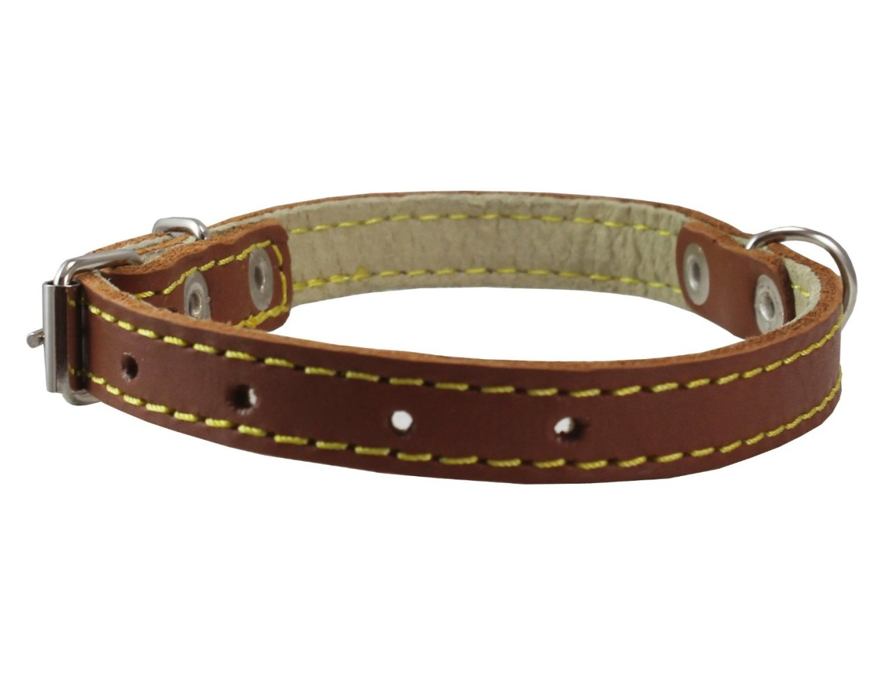 chihuahua collars genuine leather dog collar 9 5 quot 13 quot neck size 1 2 quot wide 9913