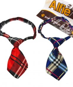 Alfie Pet by Petoga Couture - Set of 2 Qun Formal Dog Tie and Adjustable Collar