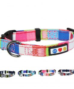 Pawtitas Polyester Dog Collar Multicolor
