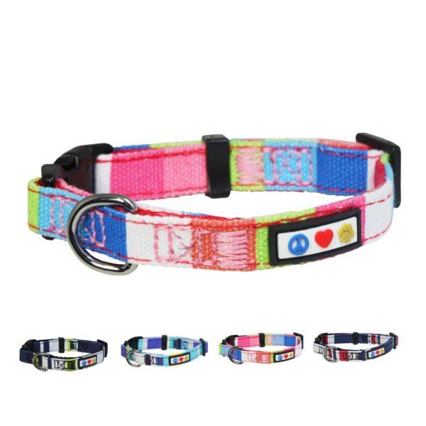 Pawtitas Polyester Dog Collar Multicolor