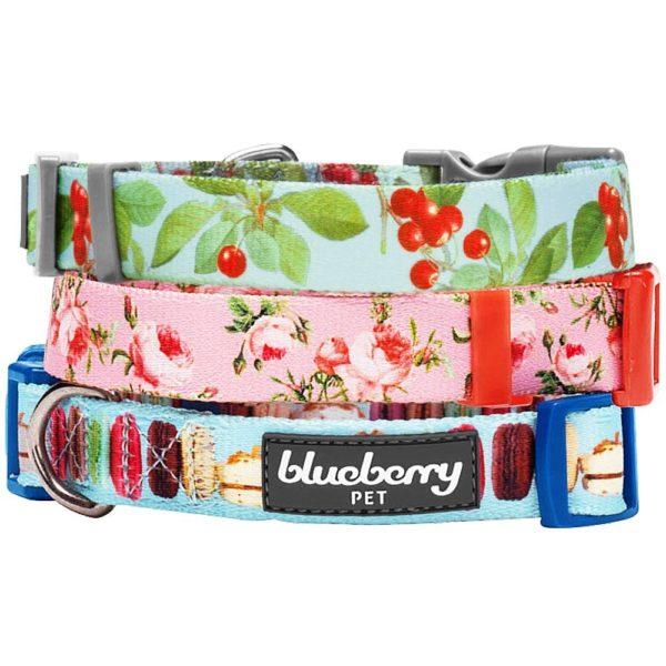 Macaroon Cake Pattern Dog Collar