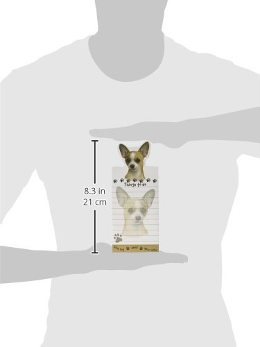 Chihuahua Magnetic List Pads Uniquely Shaped Sticky Notepad Measures 8.5 by 3.5 Inches 2