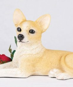 Ever My Pet Companion Chihuahua Short Hair Dog Pet Urn Fawn and White
