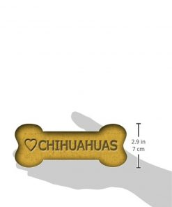 Imagine This 7-Inch by 2-1 - 4-Inch Car Magnet Biscuit Bones, Love Chihuahuas 2
