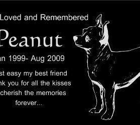 "Personalized Chihuahua Pet Dog Memorial 12""x6"" Engraved Black Granite Grave Marker Head Stone Plaque PEA1"