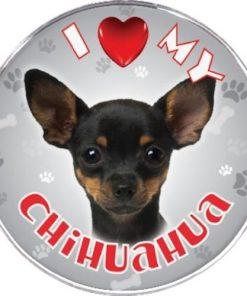 iLeesh I Love My Chihuahua Reflective Decal, Black