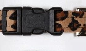 "Dog Collar Quick Release - Cheetah Ultrasuede - XS (1 2""x8-11"")"