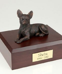 Ever My Pet Bronze Chihuahua Dog Figurine Pet Cremation Urn Small
