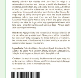 Healthy Breeds Ear Cleanse with Aloe Vera (Cucumber Melon), Chihuahua 8 oz. 2