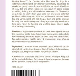 Healthy Breeds Ear Cleanse with Aloe Vera (Sweet PeaVanilla), Chihuahua 8 oz. 2