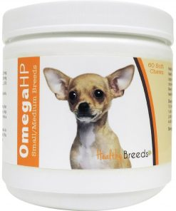 Healthy Breeds Omega-HP Skin and Coat Soft Chews, Chihuahua 60 Count