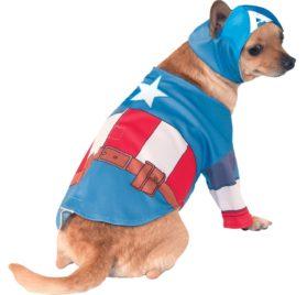 Captain America Halloween Dog Costume
