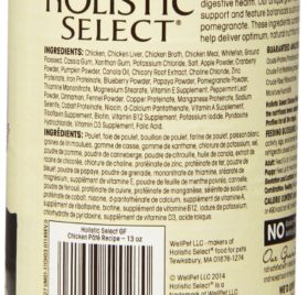 Holistic Select Natural Grain Free Wet Canned Dog Food, Chicken Recipe, 13-Ounce Can (Value Pack of 12) 2