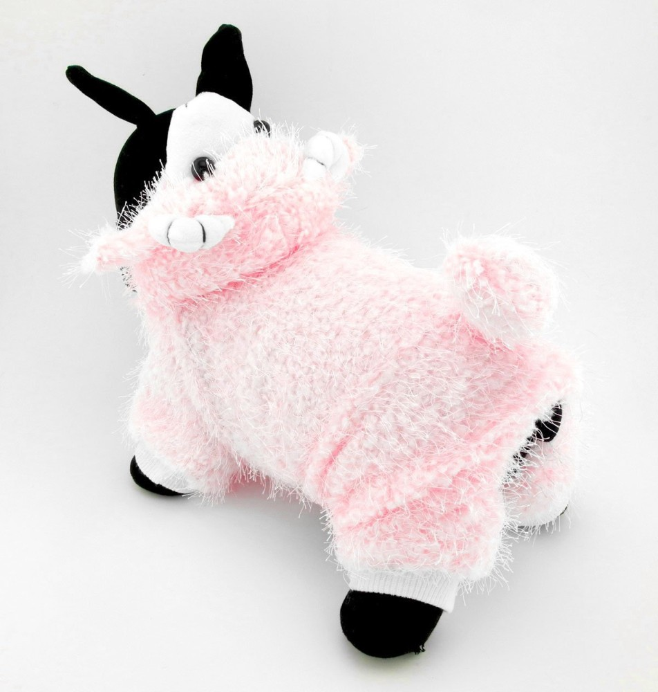 SMALLLEE_LUCKY_STORE Pet Small Dog Cat Clothes Warm Plush Fleece Goat Costume
