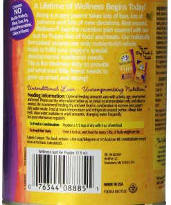 Wellness Complete Health Natural Wet Canned Dog Food, Just for Puppy Chicken & Salmon Recipe, 12.5-Ounce Can (Value Pack of 12) 2