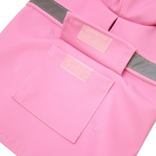 Alfie Pet by Petoga Couture - Pluvia Rainy Days Waterproof Raincoat (for Dogs and Cats) - Color Pink, Size XXS 6
