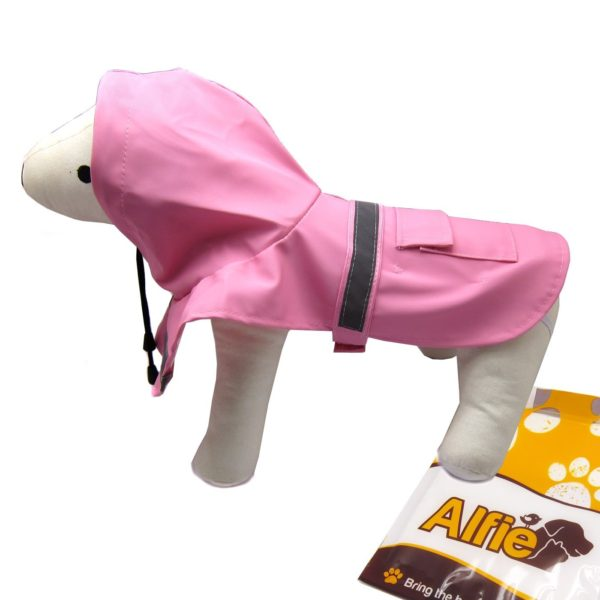 Alfie Pet by Petoga Couture - Pluvia Rainy Days Waterproof Raincoat (for Dogs and Cats) - Color Pink, Size XXS