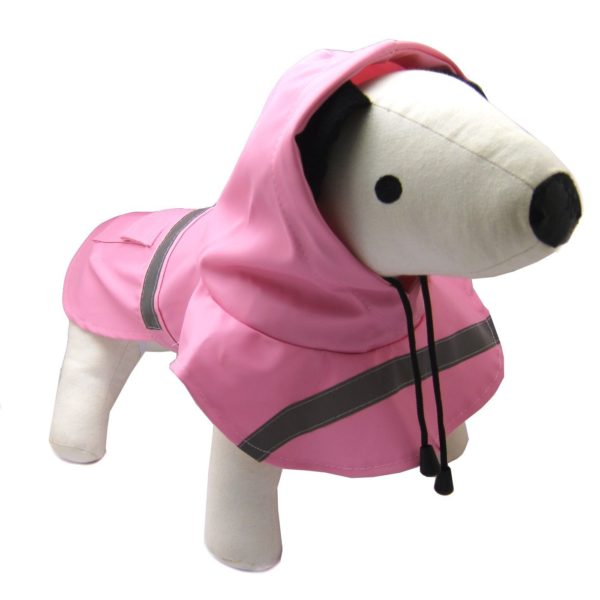 Alfie Pet by Petoga Couture - Pluvia Rainy Days Waterproof Raincoat (for Dogs and Cats) - Color Pink, Size XXS 7