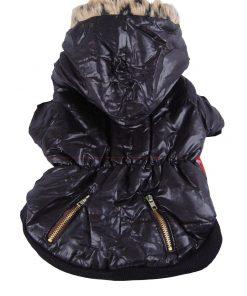 Anima Bubble Jacket with Fur Trim Hood, X-Small, Black 2