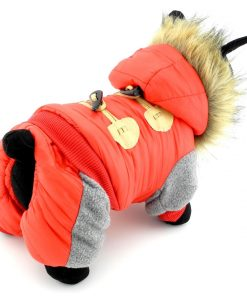 PETCONDO Small Pet Clothes for Dogs Cats Fleece Lined Horn Button Winter Coat Hooded Jacket Costume Clothing Water-resistant 2