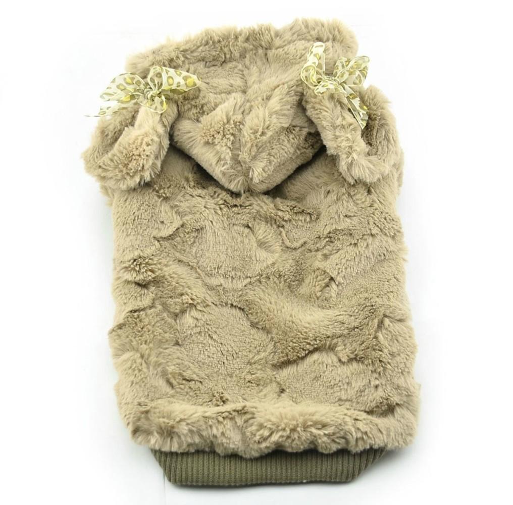 Puppy Dog Coats Cute Soft Plush Warm Winter Dog Hoodie