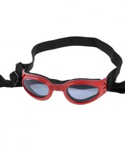 Uxcell Pet Dog Full Frame Adjustable Foldable Sunglasses, Free Size, Red
