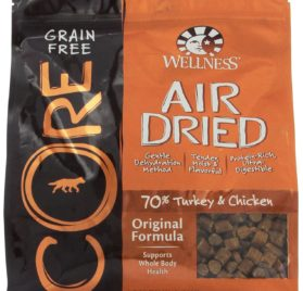 Wellness CORE Air Dried Natural Grain Free Dry Dog Food, Original Turkey & Chicken Recipe, 2-Pound Bag