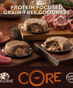 Wellness CORE Chunky Centers Natural Grain Free Wet Canned Dog Food, Turkey, Duck & White Sweet Potato Recipe, 6-Ounce Can (Value Pack of 24) 2