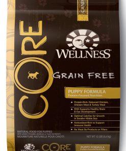 Wellness CORE Natural Grain Free Dry Dog Food, Puppy Health Chicken & Turkey Recipe, 12-Pound Bag
