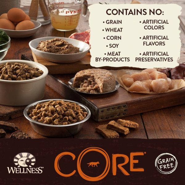 Wellness CORE Natural Grain Free Dry Dog Food, Small Breed Health Turkey & Chicken Recipe, 4-Pound Bag 3