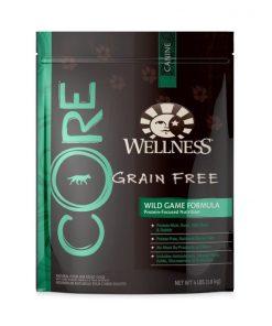 Wellness CORE Natural Grain Free Dry Dog Food, Wild Game Duck, Turkey, Wild Boar & Rabbit Recipe, 4-Pound Bag