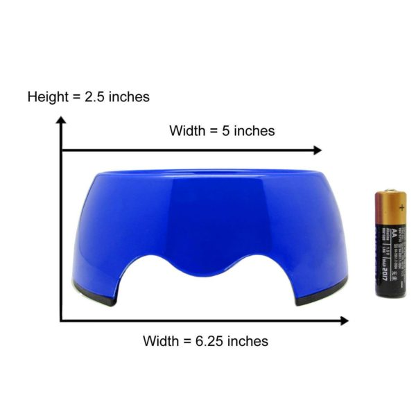 Alfie Pet by Petoga Couture - Vea 2.0 Slow-Eating Anti-Gulping Pet Food Bowl (for Dogs & Cats) - Color Blue, Size Small 2