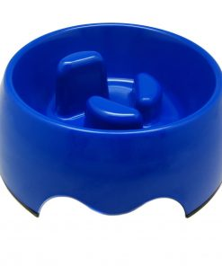 Alfie Pet by Petoga Couture - Vea 2.0 Slow-Eating Anti-Gulping Pet Food Bowl (for Dogs & Cats) - Color Blue, Size Small