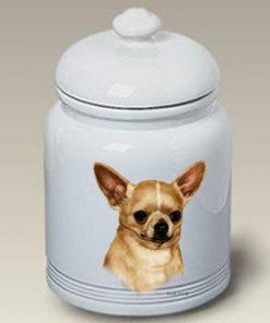 Chihuahua Tan Dog Treat Jar by Tamara Burnett