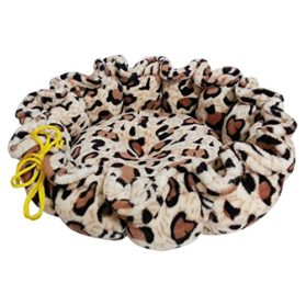 Colorfulhouse® Fashion Leopard Pumpkin Pet Bed for Small Dogs Quality Flannel Soft Dog Bed
