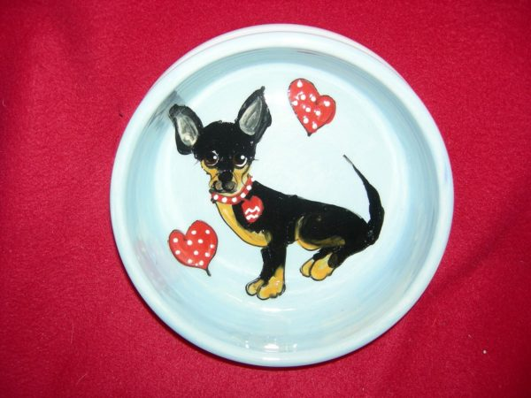 "Dog Bowl, 6"" Chihuahua Dog Bowl for Food or Water"