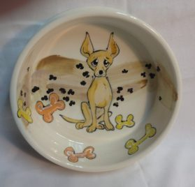 "Dog Bowl, 6"" Chihuahua Dog Bowl for Food or Water"