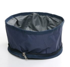 Folding Collapsible Travel Food and Water Bowl for Pets Dogs Cats (Special Edition - Blue)