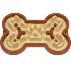 Guzzle Muzzle Slow Feed Dog Bowl, Cute Dog Slow Feeder Puzzle Dish for Fast Eaters, Stop Gulp and Anti Bloat, Flip Proof Design