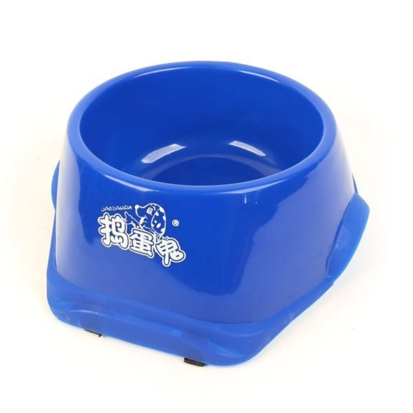 Uxcell Nonslip Food Water Feeder Pet Doggie Bowl Dish, Blue