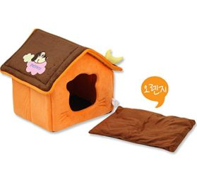 WeMore(TM) Cute Moon Pet Dog House Soft Fleece Winter Warm Small Dog Nest Beds Folding Portable Chihuahua Puppy Kennel 2