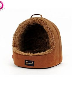 WeMore(TM) Unique Portable Small Pet Dog House Outdoor Soft Fleece Puppy Kennel Winter Warm Chihuahua Nest Beds Cama