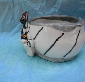 WhimsiClay Hand made Chihuahua Bowl 2