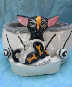 WhimsiClay Hand made Chihuahua Bowl