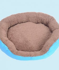 BOSUN(TM) Candy Color Small Puppy Dog Bed Soft Fleece Warm Round Chihuahua Dog Bed Indoor Oxford Bottom Pet Dog Cushion Camas Para Perros 2