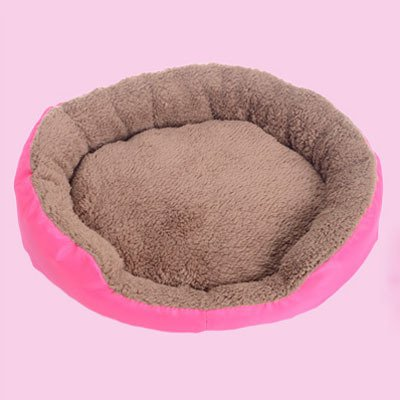 Bosuntm Candy Color Small Puppy Dog Bed Soft Fleece Warm Round
