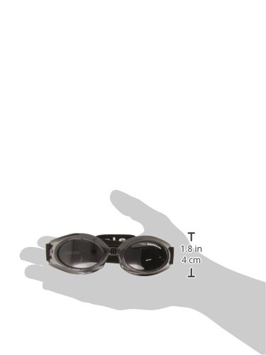 Doggles Originalz Small Frame Goggles for Dogs with Smoke Lens, Black 2