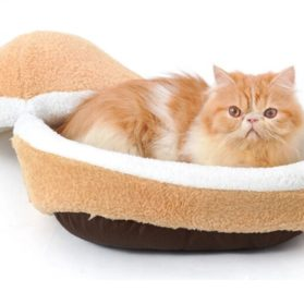 Hoopet® Hamburger- Burger Design Pet House Shell Shaped Washable Pet Bed Thicker Soft Warm Dog House Cotton Cat Sleeping Bag with Waterproof Bottom (Size S) 2